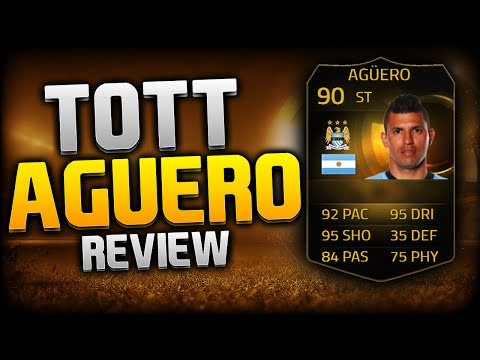 FIFA 15 BEST FIRST TOUCH PLAYER - TOTT AGUERO PLAYER REVIEW / TEAM OF THE TOURNAMENT BEAST CARD