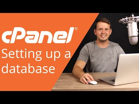cPanel beginner tutorial 6 - How to set up a database