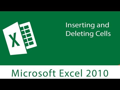 Excel : Inserting and Deleting Cells