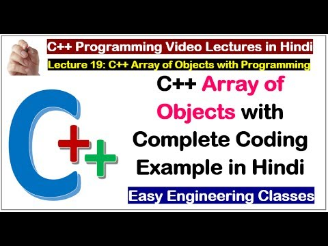 C++ Array of Objects with Complete Coding Example in Hindi | C++ Tutorial for Beginners