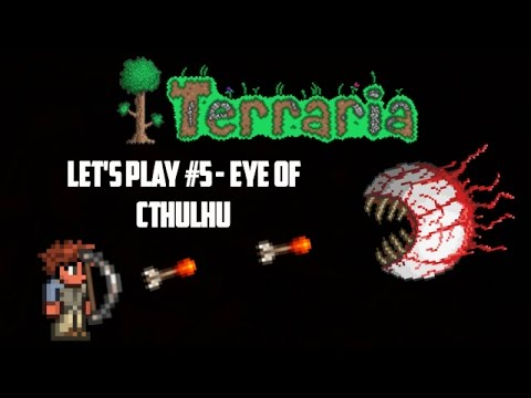 Terraria ios 1.2.4 | Let's Play Episode 5 - Eye of Cthulhu!