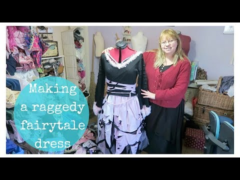 Making a raggedy fairytale pirate dress / pastel goth fairy dress
