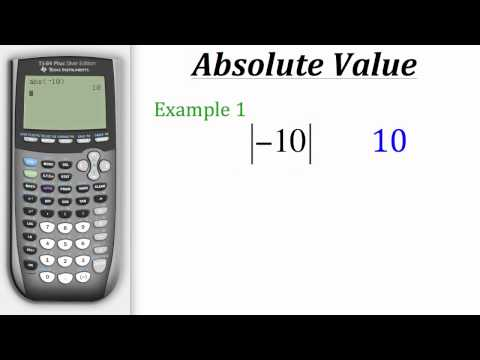 TI Calculator Tutorial: Absolute Value