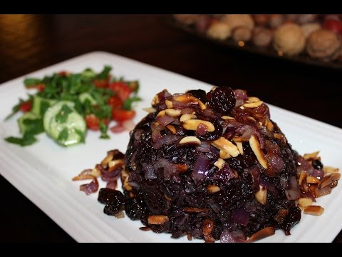 How to make Black Rice with Tart Cherries and toasted Almonds