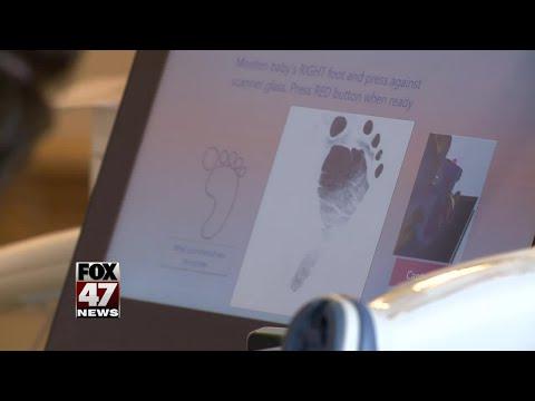 Baby footprints going digital at Sparrow Hospital