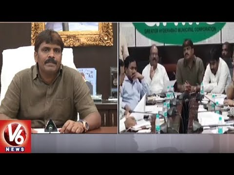 GHMC Mayor Bonthu Rammohan Asks Contractors To Complete Road Works On Time | V6 News