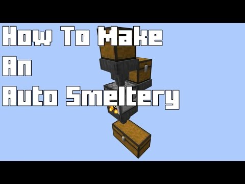 How To: Easy Automated Smeltery Minecraft Vanilla 1.8 (STILL WORKS 2016)