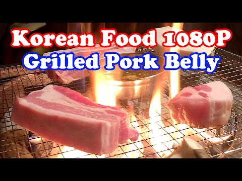 [Korean Food] Samgyeopsal - Grilled Pork Belly / Full HD 1080P
