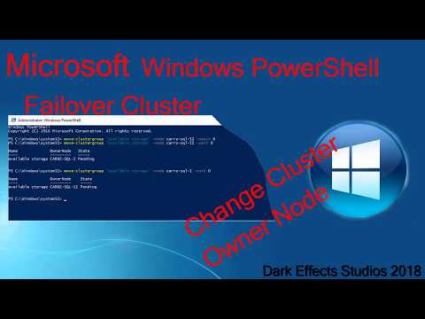 Microsoft Windows Powershell Change Owner Node of Available Storage in Failover Cluster group