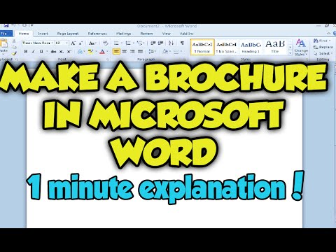 How To Make A Brochure In Microsoft Word 2013. Microsoft Word Brochure 2013 / 2010 / 2007 Tutorial