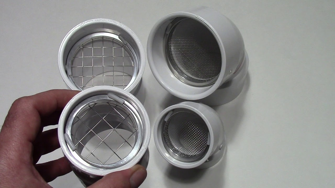 PVC Vent Pipe Termination Screen Measurements