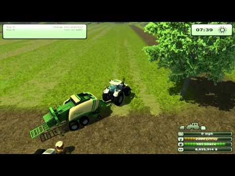 Farming Simulator 2013 - How to Bale Hay, tutorial