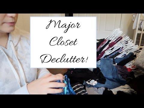 MAJOR CLOSET DECLUTTER !