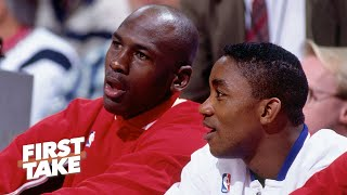 Michael Jordan's comments reveal he refused to play with Isiah Thomas on the Dream Team   First Take