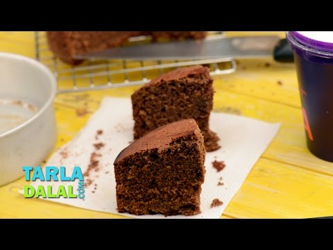 Eggless Chocolate Cake (Pressure Cooker) by Tarla Dalal