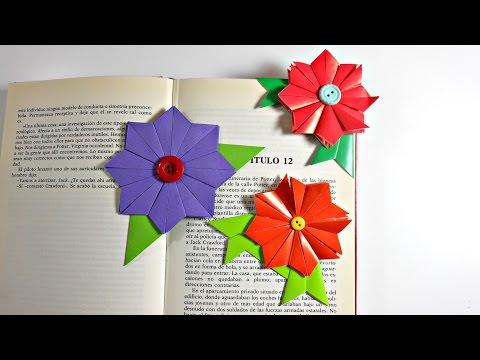 Flower bookmark origami flower book marcapginas de origami modular flor de origami modular origami bookmark mundoparty mightylinksfo