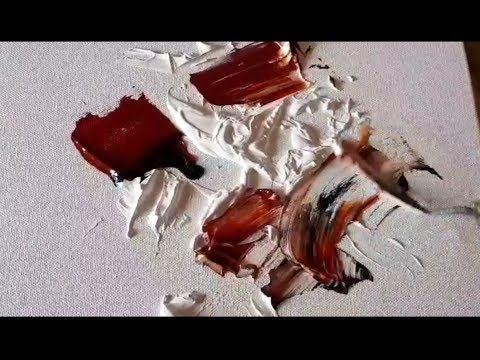 Abstract painting / Acrylics mixed with GESSO / Experimental / Texture / Demonstration