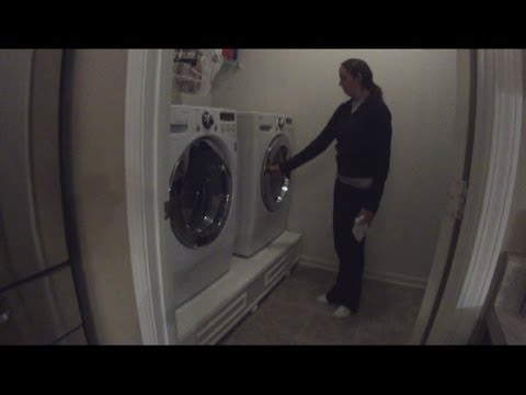 How to build a front load washer dryer pedestal