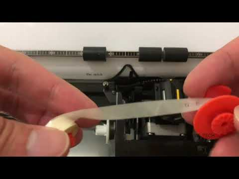 How to change typewriter ribbon and correction tape (L.O.T) | Nakajima typewriter