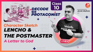 CHARACTER SKETCH: Lencho and The Postmaster (A Letter to God) 🕵️♂️ Decode the Protagonist   Vedantu