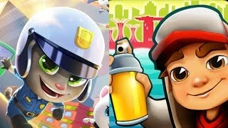 Talking Tom Gold Run Frosty Tom Vs Subway Surfers Iceland/gameplay For Kid #29