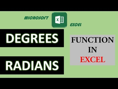 21. DEGREES, RADIANS function in excel | Math & Trig