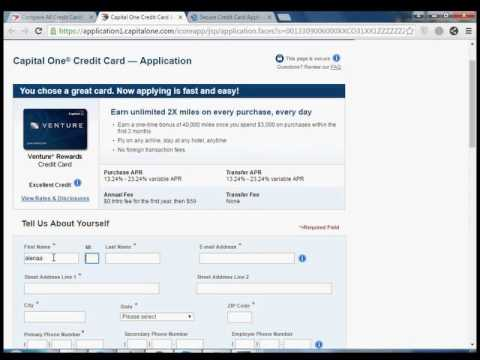 How to apply capital one credit card Venture® Rewards