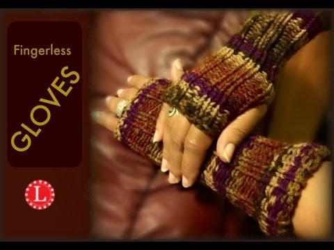 LOOM KNITTING Fingerless Gloves Mittens Project Pattern Beginner EASY | Loomahat