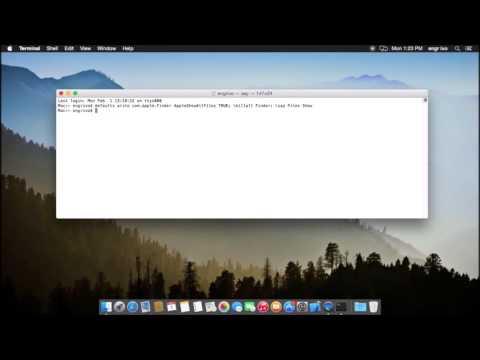 Show hidden files on Mac OS X