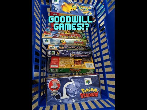 My Best GOODWILL GAME FIND Ever! | Complete Nintendo 64 games! | Pokemon Stadium 1 & 2!