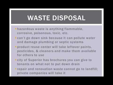 Pollution Prevention for Landlords and Property Managers