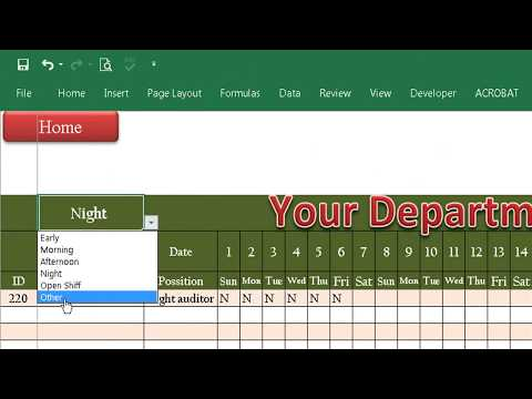 How to design your Roster in excel 2016 Speaking khmer