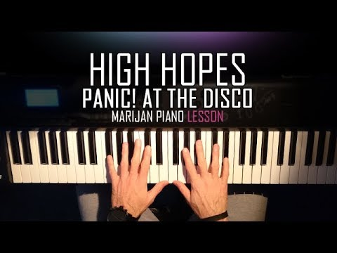 How To Play: Panic! At The Disco - High Hopes | Piano Tutorial Lesson + Sheets