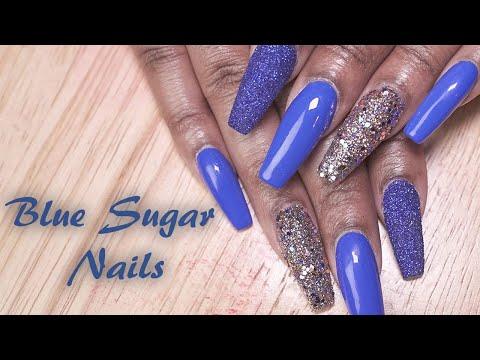Blue Sugar Acrylic Nails  | Acrylic Fill-In | LongHairPrettyNails