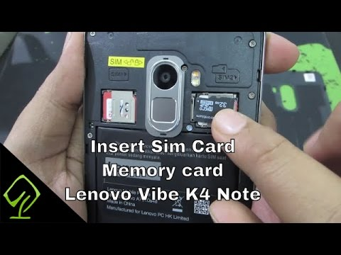 How to Insert Sim Card and Memory card in Lenovo Vibe K4 Note