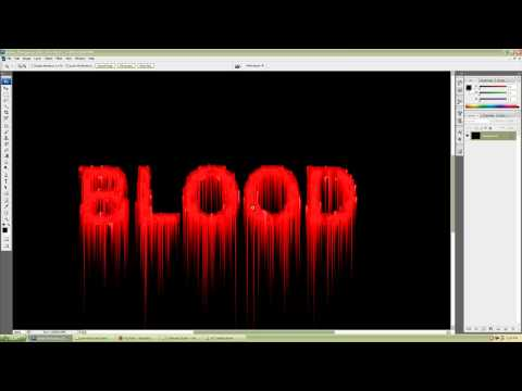 Photoshop CS3 simple and realistic blood text effect tutorial for beginners