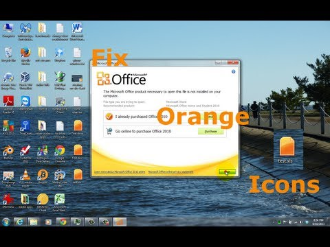 Fix Word and Excel Orange Icons ( Word and Excel Starter 2010 Won't Open  )