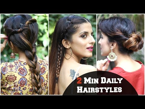 2 MIN SIMPLE Hairstyles For Everyday For School, College, Work/ Kareena Kapoor/ Quick & Easy