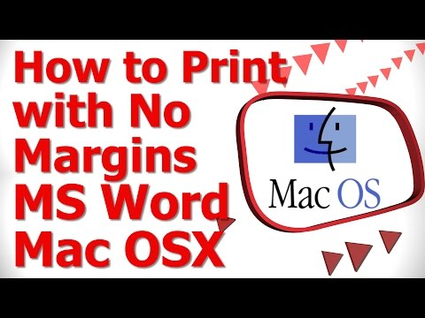 How to Print with No Margins MS Word Mac OS X