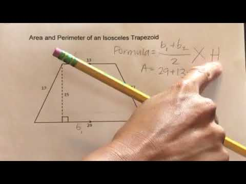 How to find the Area and Perimeter of an Isosceles Trapezoid