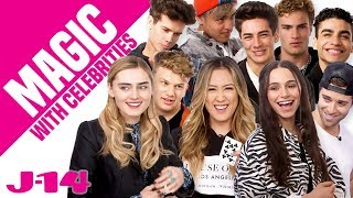 Sky Katz, In Real Life, Meg Donnelly React to Magic | Magic With Celebrities