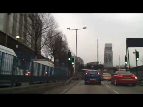 Driving in London - Stratford to O2 Arena via Blackwall Tunnel