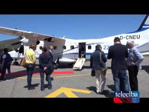 Test di un nuovo aereo all'aeroporto dell'Elba