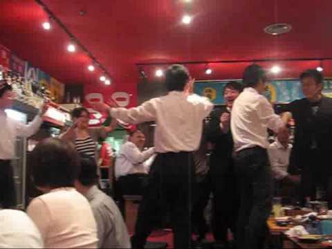 Japanese dancing at the Okinawa Bar Osaka