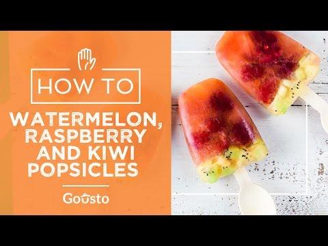 Watermelon, Raspberry and Kiwi popsicles | Gousto