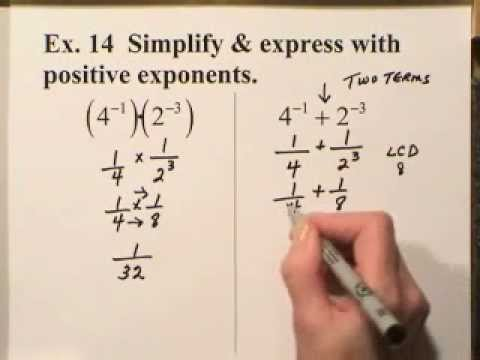 Zero, Negative & Rational Exponents by Math Made Simple