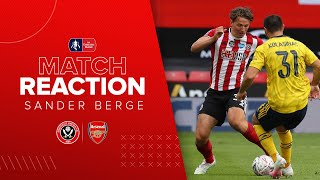 Sander Berge | Sheffield United v Arsenal | Emirates FA Cup reaction