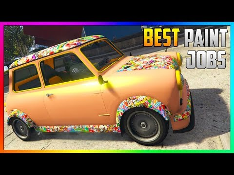 GTA 5 Online - TOP 3 Best RARE  Modded Paint Jobs & SEXY Crew Car Colors! (GTA 5 Paint Jobs)