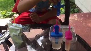 Our Little Boy Shows How To Make Juice Box Popsicles