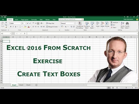 Excel 2016 from Scratch. Exercise - Create Text Boxes